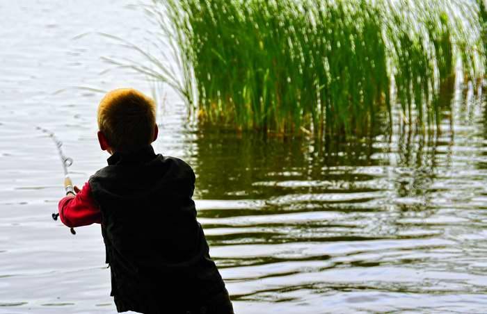 Jugendtreff, Steinzeit auf der Vogelwiese. Angeln.