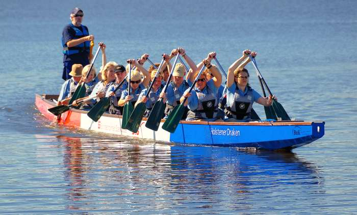 Landfrauen Bordesholm Drachenboot