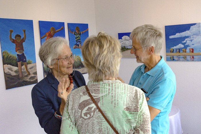 GALERIE GÖLDNER VERNISSAGE MALKURS DIE 3. in Bordesholm
