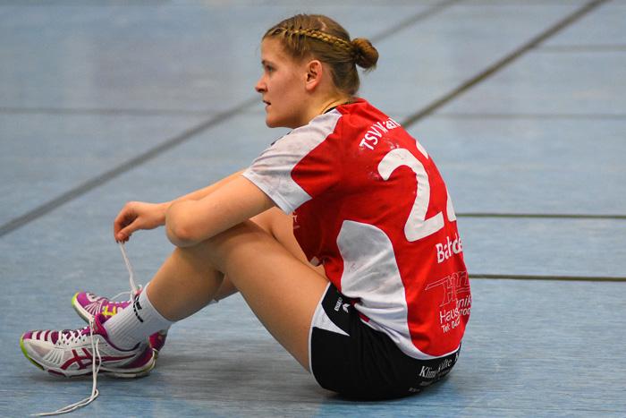 Platt. Kristin Bahde #22 ; TSV Wattenbek - Buxtehuder SV 2 am 03.02.2019 in Bordesholm,(Langenheisch 27Ð29),Hans-BrŸggemann-Schule,Photo: Michael Slogsnat, Bordesholm.