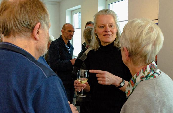 . VERNISSAGE HILKE MACINTYRE am 13.04.2019 in Bordesholm, Holstenstraße 69, Galerie Göldner / Rund um Kunst, Photo: Michael Slogsnat, Bordesholm.