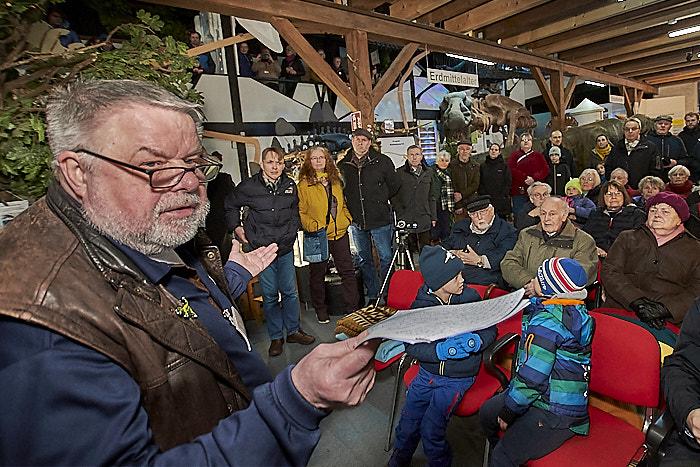 . Einweihung Elasmosaurus-Sklett am 01.02.2020 in Brügge, Dorfstraße 4, TOR ZUR URZEIT, Photo: Michael Slogsnat, Bordesholm.