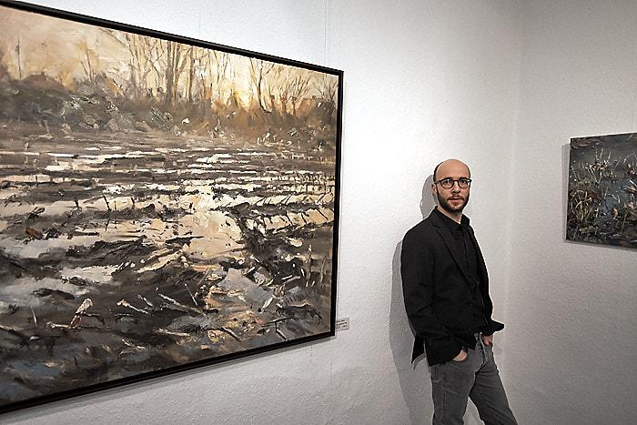 . Mathias Meinel_Landschaften am 08.02.2020 in Bordesholm, Holstenstrasse 69, Galerie Göldner, Photo: Michael Slogsnat, Bordesholm.