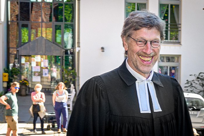 . Verabschiedung Pastor Thomas Engel am 30.05.2021 in Bordesholm, Lindenplatz, Klosterkirche, Photo: Michael Slogsnat, Bordesholm.