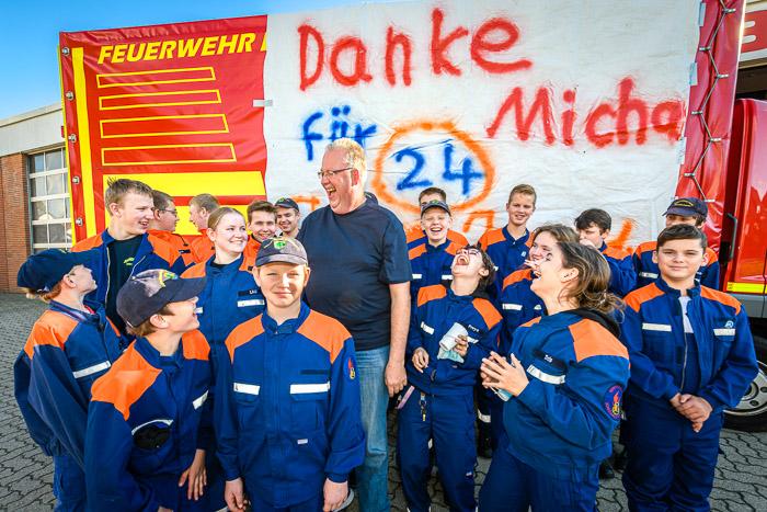 . Michael Mäusling_Jugendwart geht in Rente am 25.09.2021 in Bordesholm, Vicelinweg 3, Feuerwehr Gerätehaus, Photo: Michael Slogsnat, Bordesholm.